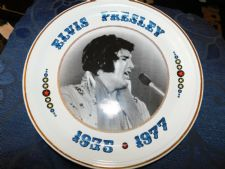 "COLLECTABLE GILDED 1982 BARRATTS DISPLAY PLATE ELVIS PRESLEY 1935 - 1977 10"" #2"